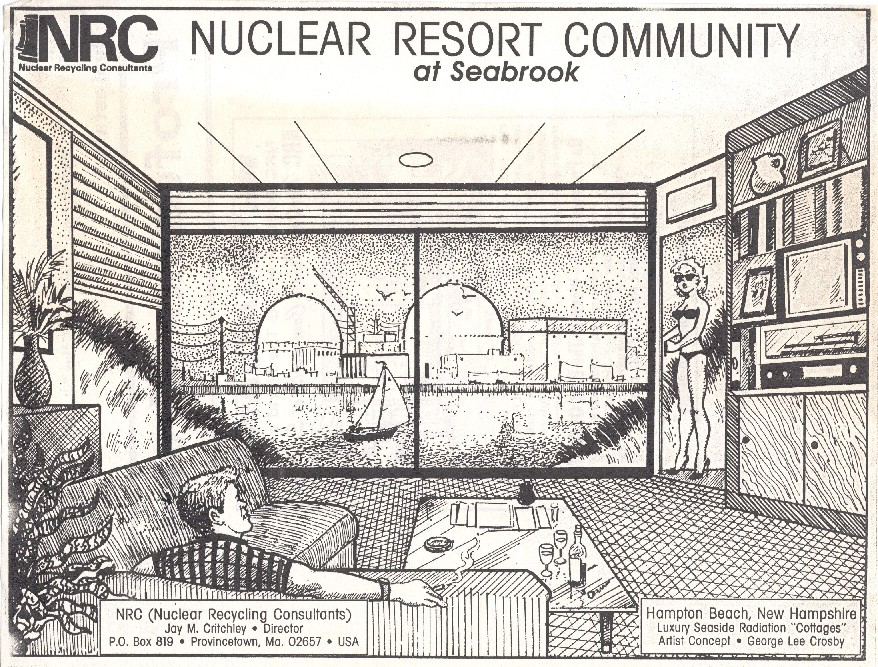 "Artist rendering of 'Radiation proof"" cottage"